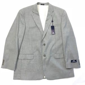 Stafford sport coat gray 6 pocket 2 buttons, NWT